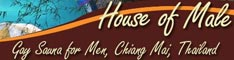 House of Male Banner on Gay in Chiang Mai